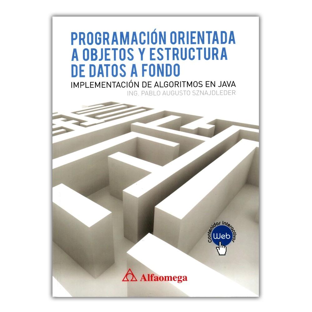 Comprar Libro Programación Orientada A Objetos Y Estructura De Datos A Fondo Implementación De Algoritmos En Java