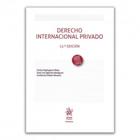 Derecho internacional privado. 12 Edición