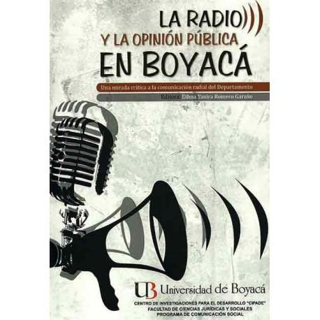 Libro La radio y la opinión pública en Boyacá. Una mirada crítica a la comunicación radial del Departamento