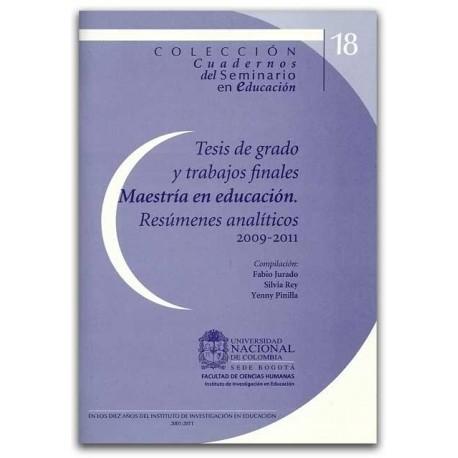 Tesis de grado y trabajos finales - Universidad Nacional de Colombia, Sede Bogotá. Facultad de Ciencias Humanas
