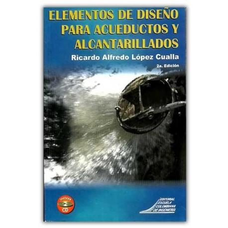 Caratula Elementos de diseño para acueductos y alcantarillados (Incluye CD)
