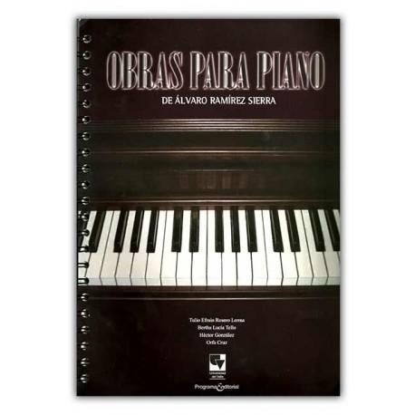 Caratula Obras para piano de Álvaro Ramírez Sierra
