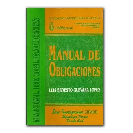Manual de obligaciones – Luis Ernesto Guevara López – Universidad de Boyacá